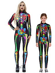 cheap -Cosplay Costume Outfits Skeleton / Skull Haganai Teenager Adults' Cosplay Costumes Gothic Style Women's Printing Halloween Carnival New Year