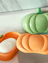 cheap -2PCS Halloween Pumpkin Soap Dish For Bathroom Storage Sink Soap Holder Dish Plate Box Tray Soap Container Case Bathroom Products