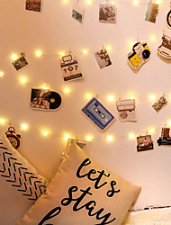 cheap -LED Photo Clip String Lights 5M50LEDS/10M100LEDS Photo Fairy Lights Indoor with Clips Battery Powered Cooper Wire Hanging String Photo Display for Bedroom Birthday Wedding Party Christmas Decorations