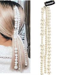 cheap -beaded jewelry hair accessories, pearl tassel, hair chain, hair clip