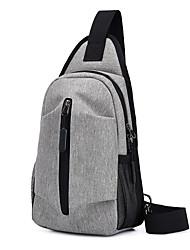 cheap -Men's Bags Polyester Nylon Sling Shoulder Bag Zipper Daily Outdoor 2021 Tote Baguette Bag Blue Gray Black