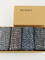 cheap -Fashion Comfort Men's Socks Multi Color Socks Medium Casual Multi color 5 Pairs