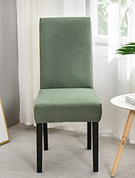 cheap -Stretch Kitchen Chair Cover Slipcover Green for Dinning Party White Grey Plain Solid Soft Durable Washable