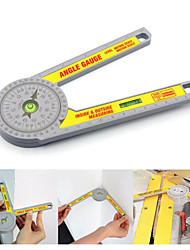 cheap -Miter Protractor 360 Measure Protractor Plastic Angle Ruler Measurement Inclinometer Angle Finder Gauge Woodworking Tools 72