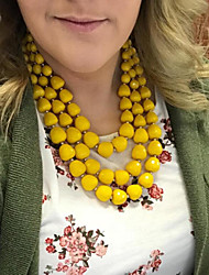 cheap -european and american cross-border source color beaded exaggerated necklace ladies multi-layer clavicle chain set 8060
