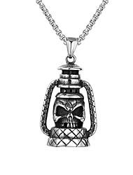 cheap -Kerosene Lamp Pendant Grimace Titanium Steel Jewelry Necklace Trend Single Product