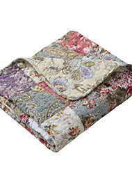 cheap -global trends carmel 100% cotton patchwork throw blanket