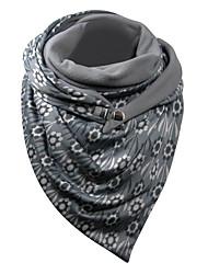 cheap -Women's Infinity Scarf Dailywear Gray Scarf Floral