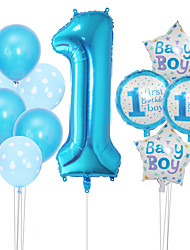 cheap -Number 1 Balloon Package Boys and Girls 1st Birthday Party Decoration Polka Dot Balloon Package