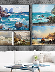 cheap -Wall Art Canvas Prints Painting Artwork Picture Landscape Sea Oil Painting Style Decoration Decor Rolled Canvas No Frame Unframed Unstretched