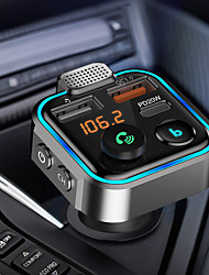 cheap -Bluetooth Car Adapter Bluetooth Car Kit Hands-Free Car Charger PD20W QC 3.0  Support Hands-Free Calling TF Card/Call Siri /U Disk/RGB Backlit
