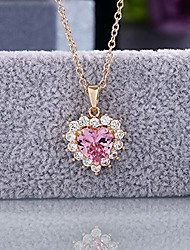 cheap -women heart jewelry gifts for women amethyst pendant necklace, women necklace gemstone jewelry