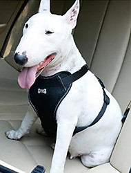 cheap -Dog Car Harness Plus Connector Strap, Multifunction Adjustable Vest Harness Double Breathable Mesh Fabric with Car Vehicle Safety Seat Belt