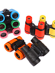 cheap -1pc 4*30 Kid Children Magnification Toy Binocular Telescope with Neck Tie Strap