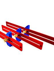cheap -Woodworking Scriber Hole Ruler Aluminum Alloy T-shaped Ruler Woodworking Scriber Angle Scriber