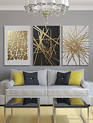 cheap -Wall Art Canvas Prints Painting Artwork Picture Abstract Gold Home Decoration Decor Rolled Canvas No Frame Unframed Unstretched