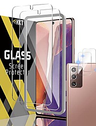 cheap -[2 + 2]  tempered glass screen protector for samsung galaxy note 20/note 20 5g 6.7 inch, camera lens film - fingerprint id compatible - alignment frame easy installation - 2021 upgraded version