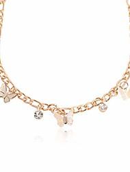 cheap -lovely butterfly pendant necklace handmade dainty rhinestone for women jewellery gifts