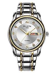 cheap -S506 Men'S Steel Band Luminous Watch Week Display Dual Calendar Quartz Watch Retro Waterproof Watch