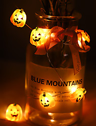cheap -Halloween Pumpkin Skull Shaped Copper Wire String Lights 2M 20LEDs Battery-Operated Garden Party Home Holiday Decoration Light String