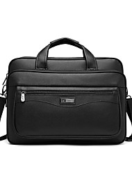 cheap -17 Inch Laptop Briefcase Handbags Plastics Solid Color for Men for Women for Business Office Shock Proof