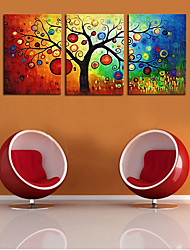 cheap -3 Panels Wall Art Canvas Prints Painting Artwork Picture Tree Plant Colorful Home Decoration Decor Rolled Canvas No Frame Unframed Unstretched