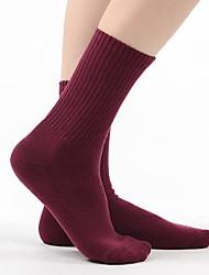 cheap -Fashion Comfort Women's All Socks Solid Colored Socks Casual Socks Warm Casual Blue 1 Pair