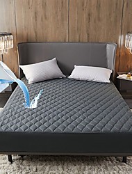 cheap -Cross-border Amazon Solid Color Quilted Waterproof Bed Sheet Mattress Cover Simmons Bed Cover Bedspread Simple Mattress Protection Cover