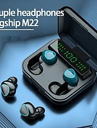 cheap -M22 True Wireless Headphones TWS Earbuds Bluetooth5.0 Ergonomic Design Stereo Deep Bass for Apple Samsung Huawei Xiaomi MI  Everyday Use Traveling Outdoor Mobile Phone