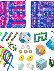 cheap -Pop Game 29 Pack Big Size Pop Its Set Fidget Toy Pop Game Push Pop Bubble Fidget Sensory Toy Popper Fidget Toys Set Stress Relief Tools for Kids Adult Men Women