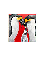 cheap -Oil Painting Handmade Hand Painted Wall Art Animal Penguin Family Home Decoration Decor Rolled Canvas No Frame Unstretched