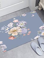 cheap -Artistic Flower Theme Series Digital Printing Floor Mat Modern Bath Mats Nonwoven / Memory Foam Novelty Bathroom