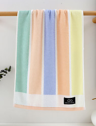 cheap -1 Pc 100% Cotton Premium Ring Spun Hand Kitchen Shower Towel(Set) Machine Washable Super Soft Highly Absorbent Quick Dry For Bathroom Hotel Spa Stripe  34x74cm
