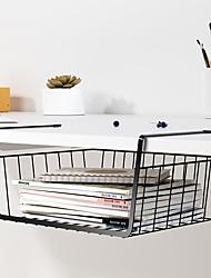 cheap -Underdesk Shelving Office Desk Hanging Storage Computer Desk Top Layer Hanging Basket 36*23*14cm