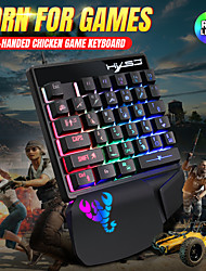 cheap -V400RGB One Hand Film Keyboard Left Hand Mechanical Feel One Hand Backlight Keyboard 35 Keys