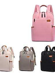 cheap -15.6 Inch Laptop Commuter Backpacks Plastics / Nylon Fiber Solid Color for Men for Women for Business Office Shock Proof