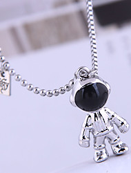 cheap -Women's Pendant Necklace Necklace Planet Universe Starry Sky Galaxy Simple Fashion Korean Stainless Steel Alloy Silver 50 cm Necklace Jewelry 1pc For Street Masquerade