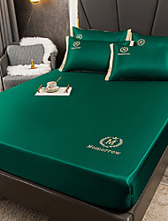 cheap -Antarctica embroidered fitted sheet bedspread full package non slip mattress cover solid color bed cover waterproof bedspread cover sheet