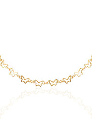 cheap -style simple retro alloy butterfly necklace women personality fashion golden jewelry