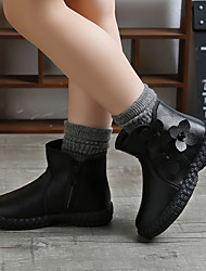 cheap -Girls' Flats Ankle Boots Boots Children's Day Princess Shoes PU Walking Non Slip Cute Fashion Boots Toddler(9m-4ys) Little Kids(4-7ys) Big Kids(7years +) Party & Evening Walking Walking Shoes Flower