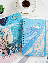 cheap -A5 Marble Blue Journal Notebook back to school gift office Diary Planner Agenda Sketchbook Suitable 21.5*15.5cm
