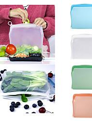 cheap -Reusable Silicone Food Storage Bag Kitchen Food Fresh Keeping Bags mesh bag Silicone Food Grade ZipLock Storage Bags