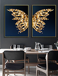 cheap -Wall Art Canvas Prints Painting Artwork Picture Animal Butterfly Gold Home Decoration Dcor Rolled Canvas No Frame Unframed Unstretched