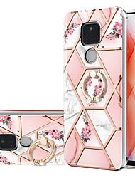 cheap -Phone Case For Motorola Back Cover Moto G Stylus Shockproof Dustproof Ring Holder Flower Marble TPU