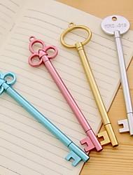 cheap -8pcs/lot Korean Creative Student Stationery Fountain Pen Retro Golden Key Gel Pen Metal Texture Black Signature Pen Prize