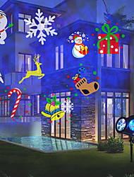 cheap -Projector Light Marry Christmas Double Tube Projection Lamp Plug-in Vertical Dual-purpose Projection Lamp Halloween Christmas Decoration Light Water Ripple