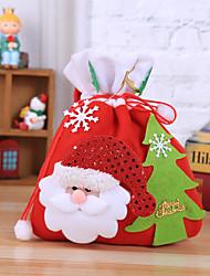 cheap -Christmas Eve Apple Bag Snowman Bear Red Band Mouth Handbag Christmas Tree Sticker Christmas Gift Bag 20*36cm