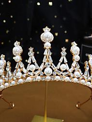 cheap -A130 Crown Headdress Wedding Crown Dress Accessories Japanese And Korean Pearl Headband 18th Birthday Gift