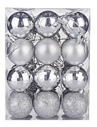 cheap -Christmas Balls 24pcs 4cm Christmas Balls Plastic Shiny Electroplating Balls Christmas Tree Decorations