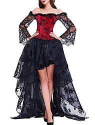 cheap -Corset Women's Bustiers Corsets Sexy Breathable Corset Dresses Tummy Control Push Up Lace Pure Color Hook & Eye Lace Up Polyester Christmas Halloween Wedding Party Birthday Party Fall Winter Spring